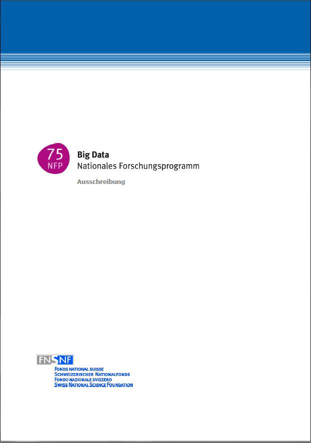 Ausschreibung NFP 75
